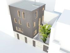 3D maison dans l'écusson